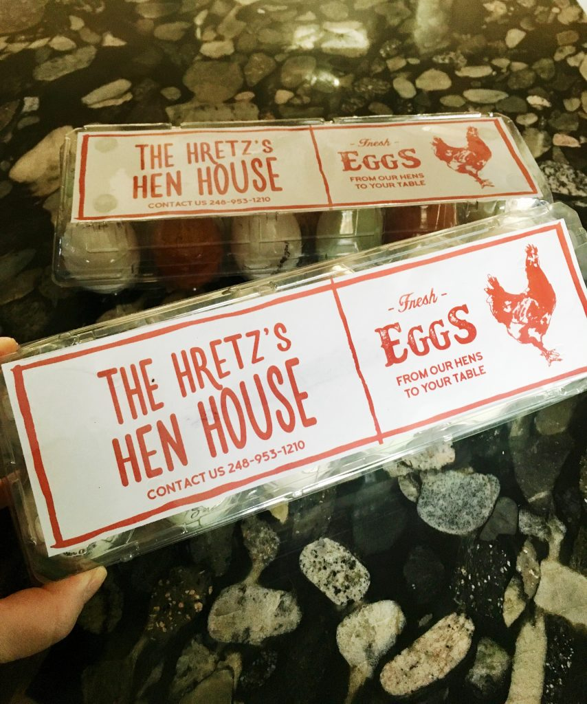 egg-tactic packaging with digital printable labels from Etsy