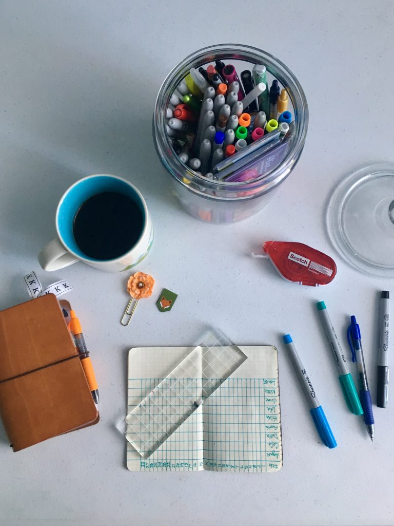 creating an egg chart using my sharpies and field notes note book